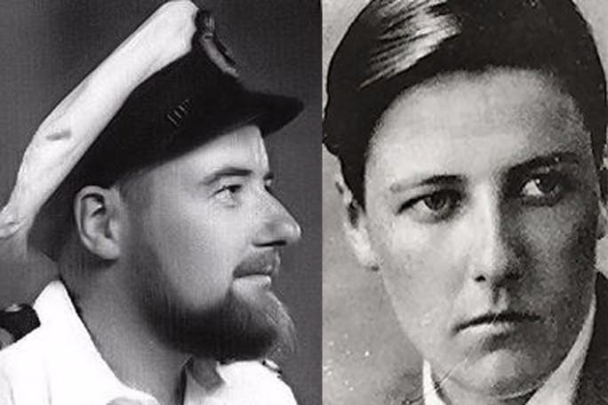 Image of Laurence Michael Dillon, depicting him both before and after utilizing testosterone treatments.